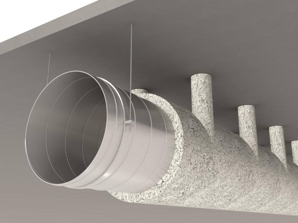 protection incendie des conduits en t le acier avec le rev tement projet fibreux fibrogaine. Black Bedroom Furniture Sets. Home Design Ideas