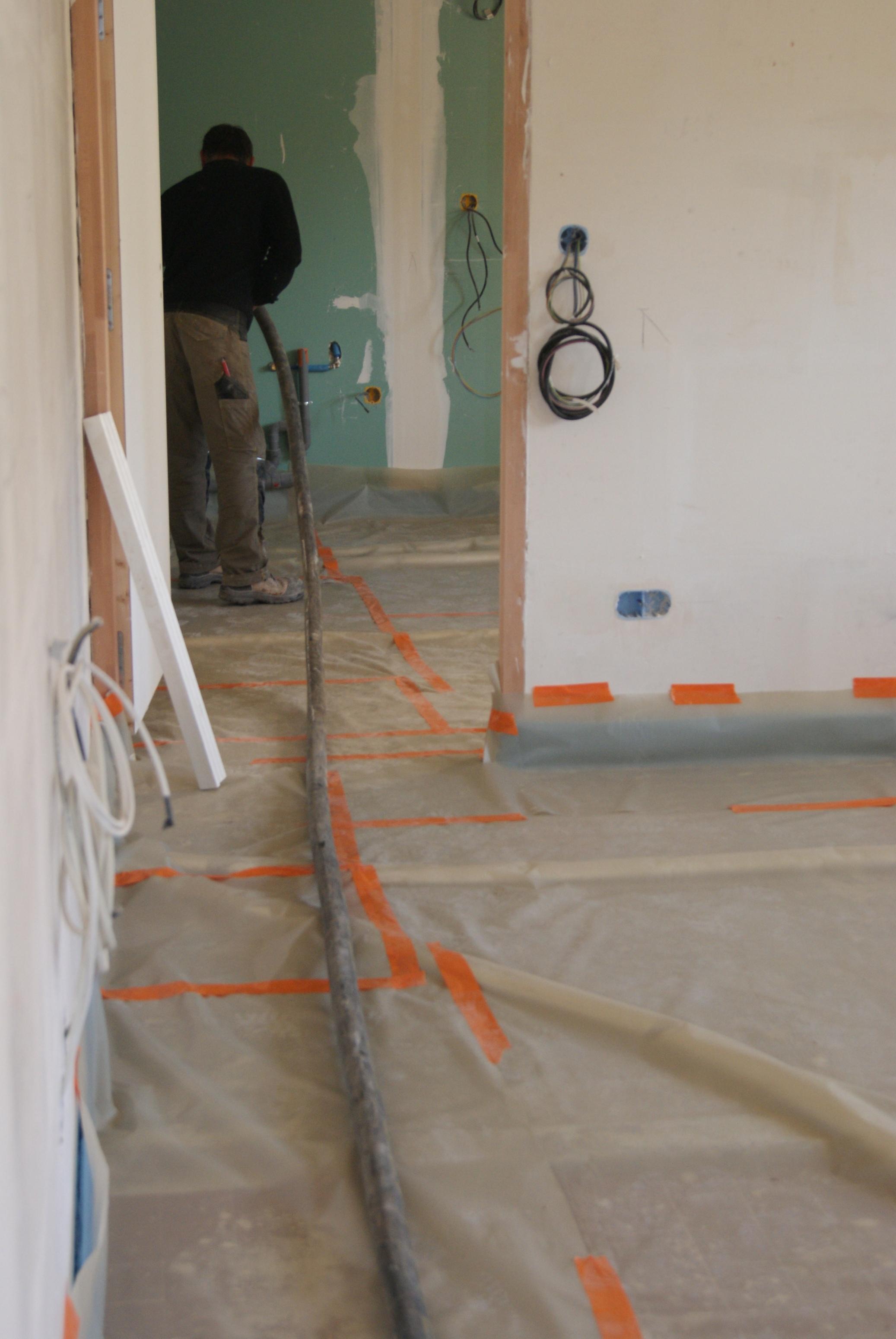 reportage pas pas sur la mise en oeuvre du mortier l ger. Black Bedroom Furniture Sets. Home Design Ideas