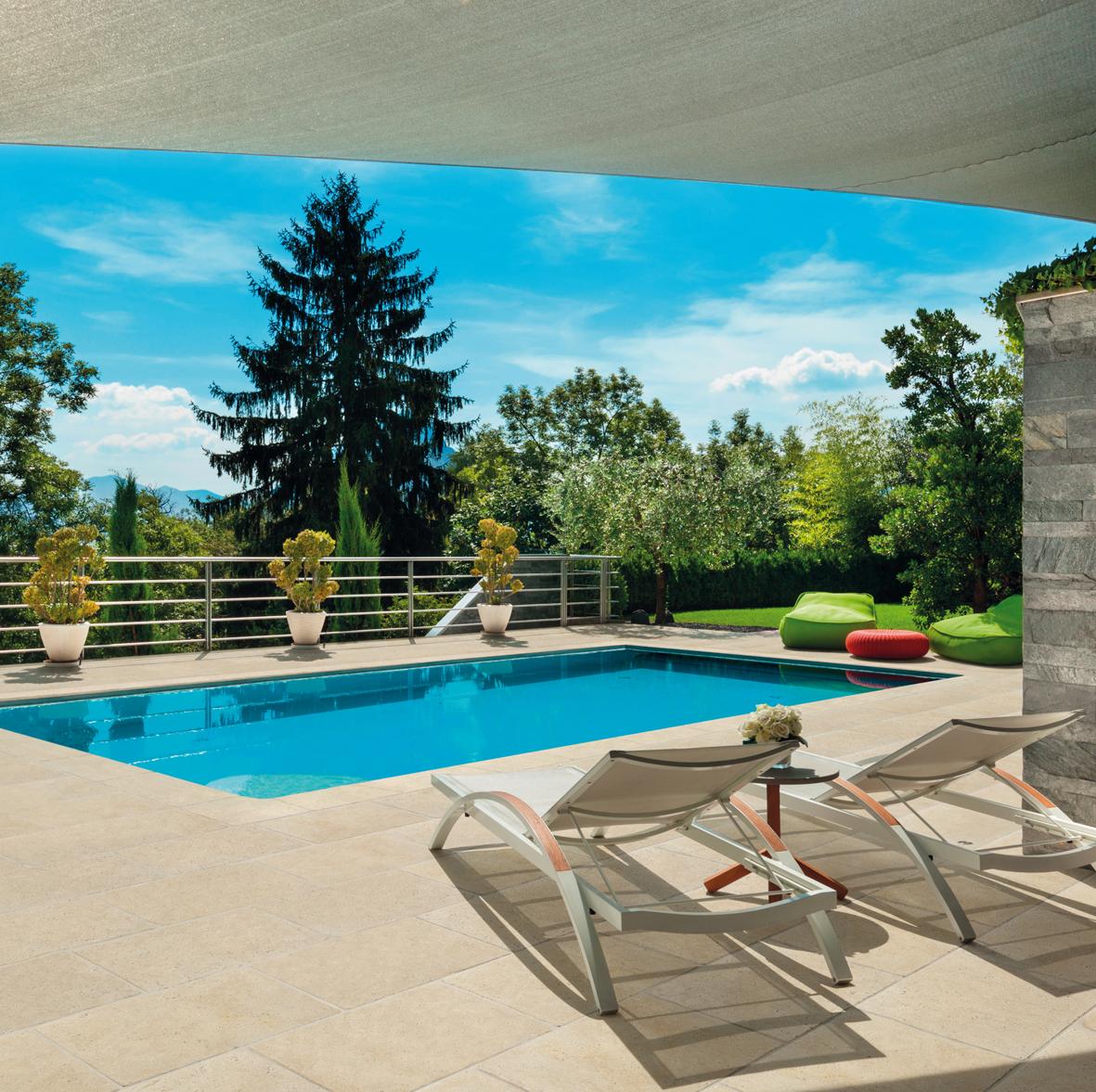 Ligne pierre naturelle carre d arc batipresse - Revetement tour de piscine ...