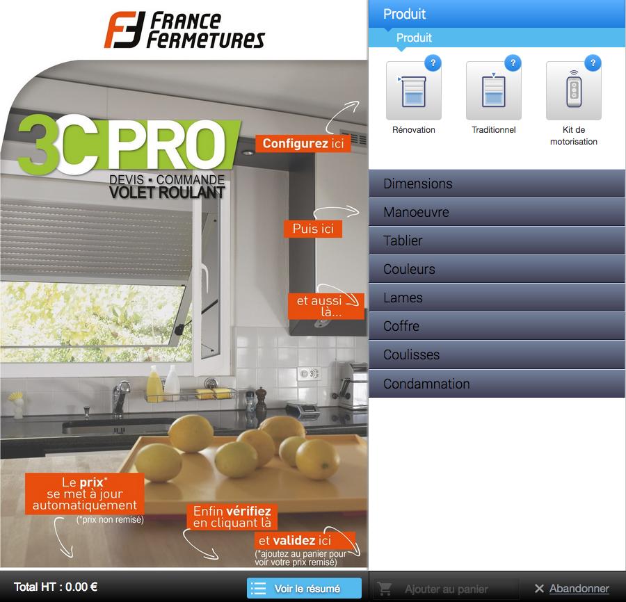 Configurateur 3c pro un outil en ligne 100 efficace for Configurateur cuisine en ligne