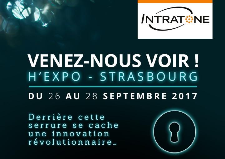 INTRATONE SERA PRÉSENT AU SALON H'EXPO DE STRASBOURG   DU 26 AU 28 SEPT. 2017