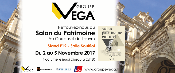 Le groupe vega sera pr sent au salon international du for Salon du patrimoine