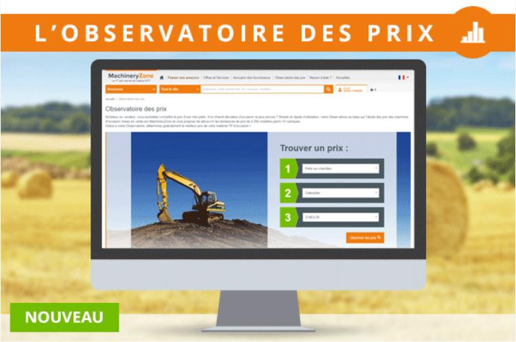 L'Observatoire des prix enfin disponible pour les engins de travaux publics !