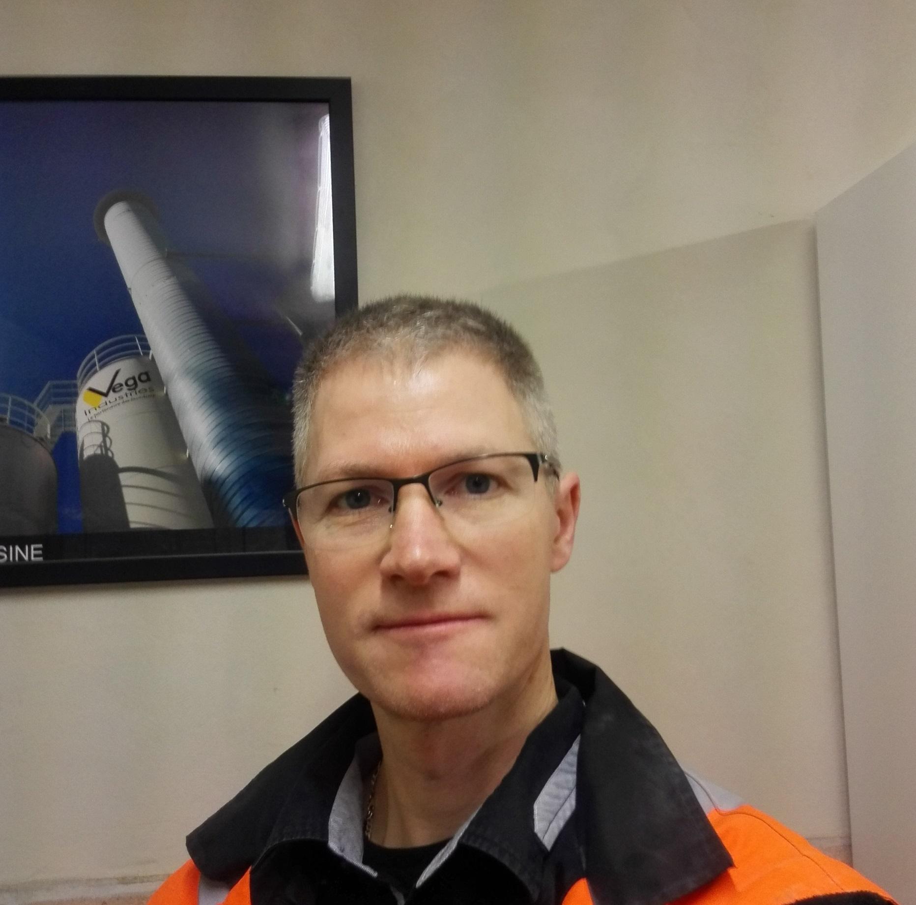 Rudy CARPENTIER, nouveau Directeur de l'usine de Saint-Laurent-Nouan, du Groupe VEGA