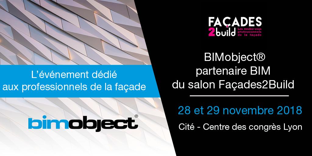 BIMobject® partenaire BIM du salon Façades2Build Lyon.