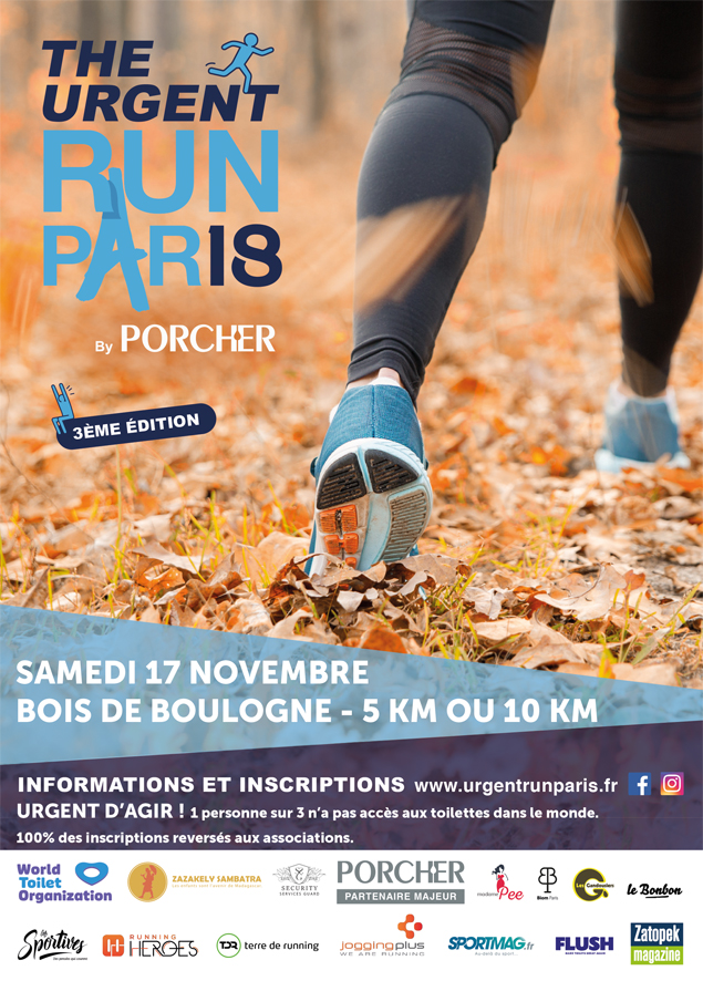 affiche de la course The Urgent Run Paris