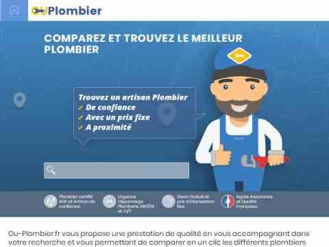 ou-plombier.fr, le nouveau service pour trouver un plombier en ligne