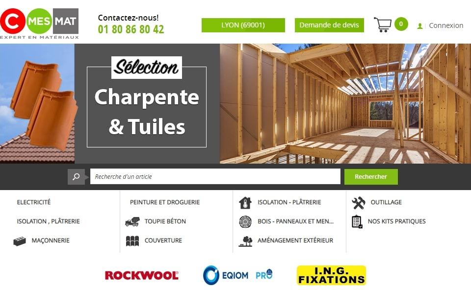 CmesMat : le site des matériaux de construction professionnels pour les projets des particuliers