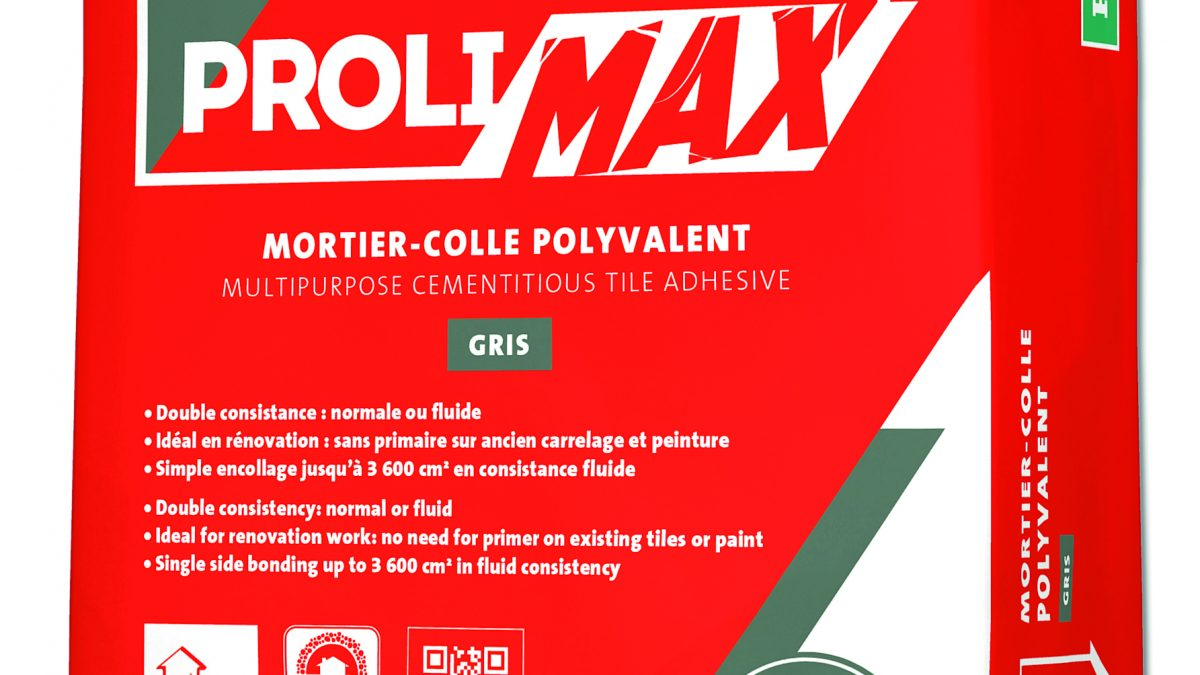 5024 PROLIDAL MAX: LE MORTIER-COLLE AVEC UN MAXIMUM DE PERFORMANCES