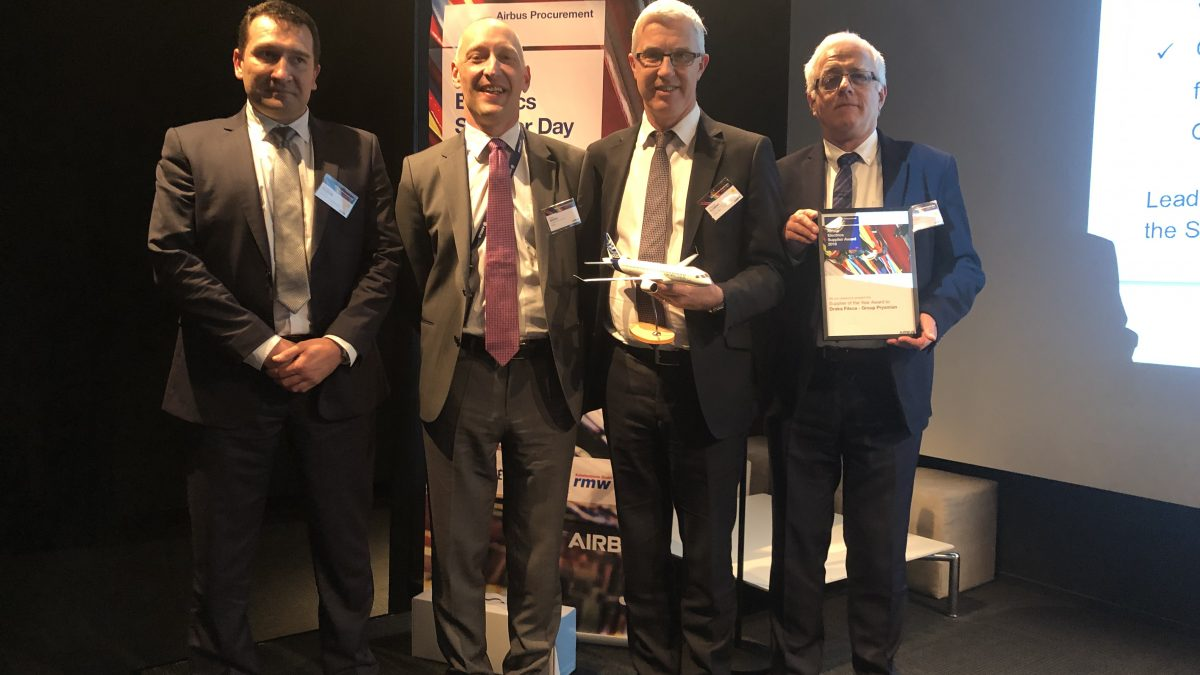 DRAKA FILECA, FILIALE DE PRYSMIAN GROUP, REMPORTE L'AIRBUS ENGINEERING AWARD 2018   ET L'AIRBUS SUPPLIER OF THE YEAR AWARD 2018.
