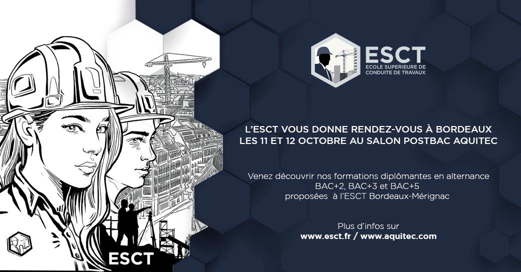 L'ESCT participe au Salon PostBac les 11 et 12 octobre, à Bordeaux