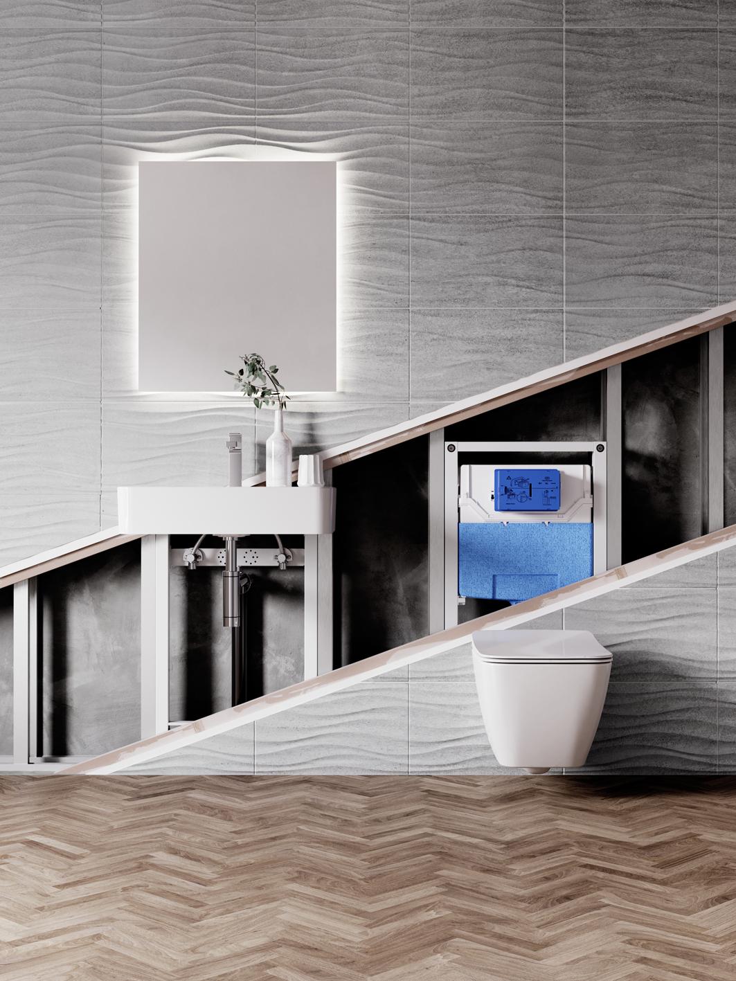 Nouveaux bâti-supports et plaques de commandes de toilettes