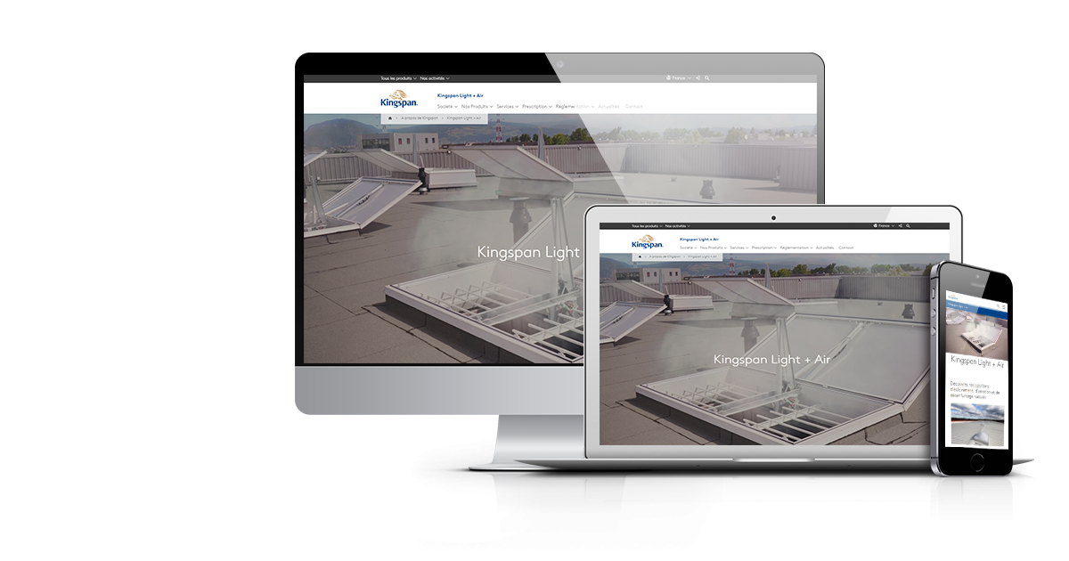 KINGSPAN LIGHT + AIR LANCE SON TOUT NOUVEAU SITE INTERNET