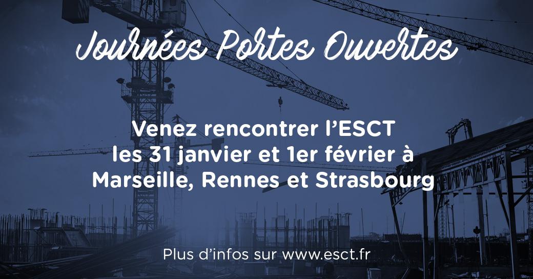 L'ESCT inaugure ce week-end ses Journées Portes Ouvertes 2020
