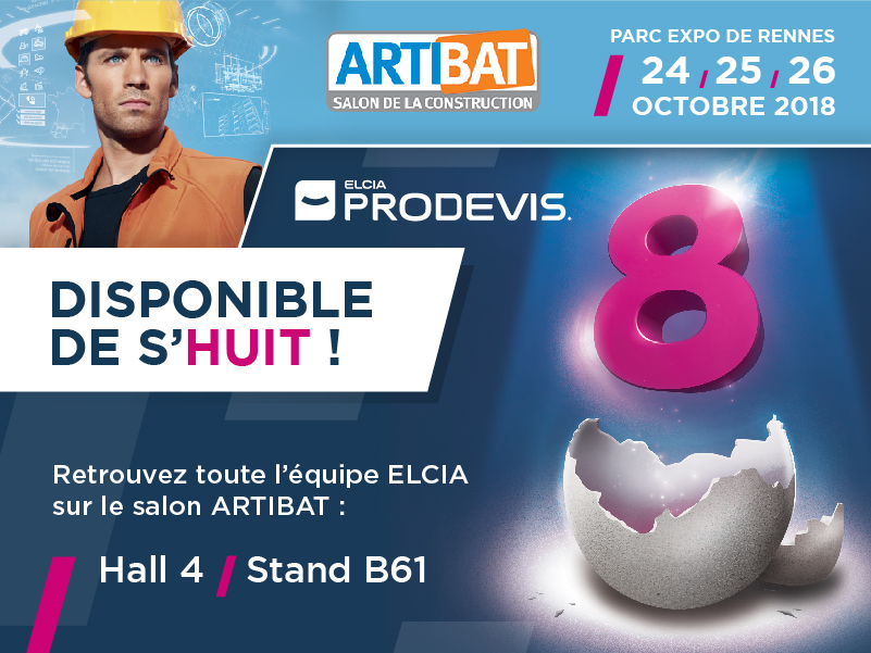 Le Groupe ELCIA exposant au salon Artibat (hall 4 – stand B61) : des nouveautés pour tous les professionnels de la Menuiserie