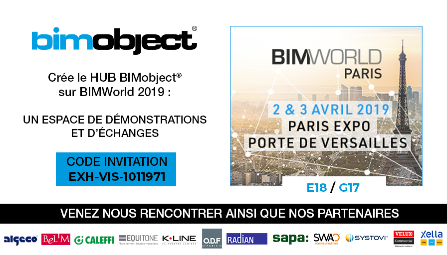 BIMobject® crée l'événement sur le salon BIM World 2019