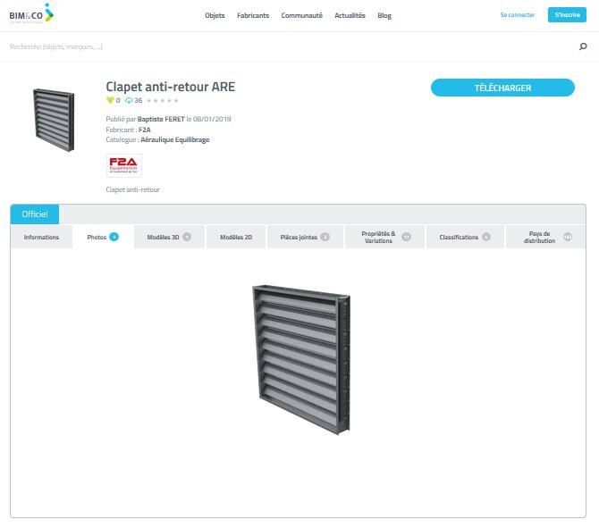 F2A, équipementier spécialisé dans la fabrication de composants CVC, a choisi la plateforme bimandco.com pour la gestion  de ses produits en BIM