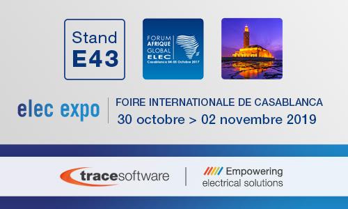 Trace Software International participe à l'événement Elec Expo 2019 à Casablanca au Maroc
