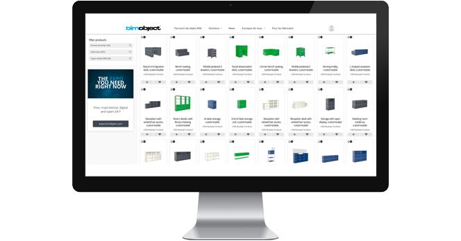 USM, la marque de mobilier 100% modulable disponible sur BIMobject